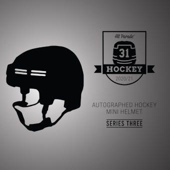 2020/21 Hit Parade Auto Hockey Mini Helmet 1-Box Series 3- DACW Live 4 Spot Random Division Break #1