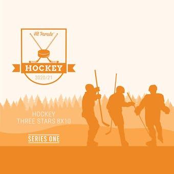 2020/21 Hit Parade Autographed Hockey THREE STARS 8x10 Photo - Series 1 - Hobby 10-Box Case Crosby & McDavid!