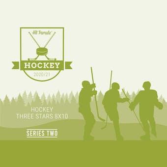 2020/21 Hit Parade Autographed Hockey THREE STARS 8x10 Photo Series 2 Hobby Box - Crosby & McDavid!!