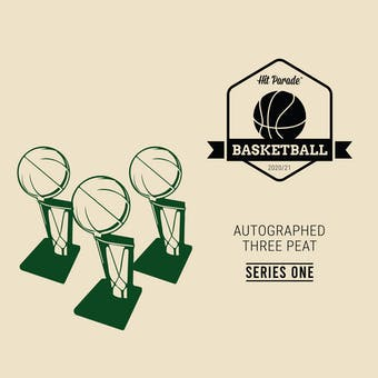 2020/21 Hit Parade Autographed THREE PEAT Basketball Hobby Box - Series 1 - Zion, Curry, & Giannis!!!