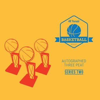 2020/21 Hit Parade Autographed THREE PEAT Basketball Hobby Box - Series 2 - Zion, Curry & Ja!!