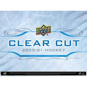 2020/21 Upper Deck Clear Cut Hockey Hobby 15-Box Case (Presell)