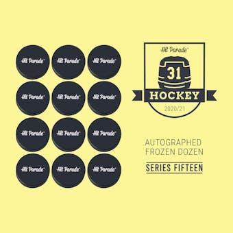 2020/21 Hit Parade Autographed FROZEN DOZEN Hockey Puck Series 15 Hobby Box - Stamkos & Lafreniere!!