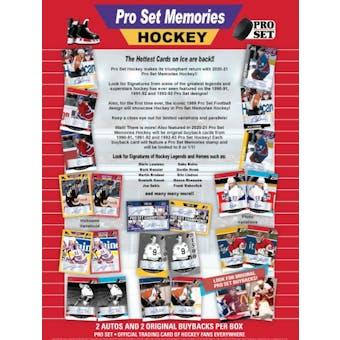 2021 Leaf Pro Set Memories Hockey Hobby Box (Presell)