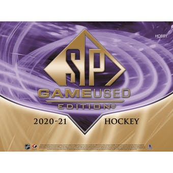 2020/21 Upper Deck SP Game Used Hockey Hobby 20-Box Case (Presell)