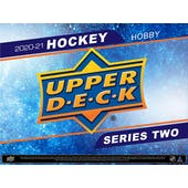 2020/21 Upper Deck Series 2 Hockey Hobby 12-Box Case (Presell)