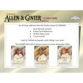 2020 Topps Allen & Ginter Chrome Baseball Hobby 12-Box Case (Presell)