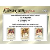 2020 Topps Allen & Ginter Chrome Baseball Hobby 2-Box Lot - SHIPS EARLY DECEMBER