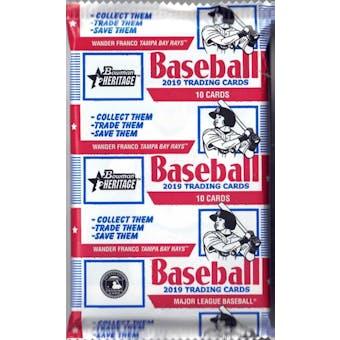 2019 Bowman Heritage Baseball Hobby Pack