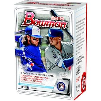 2020 Bowman Baseball 6-Pack Blaster 40-Box Case