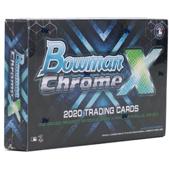 2020 Bowman Chrome X Baseball Hobby Box