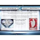 2020 Bowman Draft Baseball Hobby Jumbo 8-Box Case (Presell)
