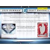 2020 Bowman Draft Baseball Super Jumbo 6-Box Case (Presell)