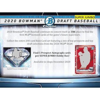 2020 Bowman Draft Baseball Super Jumbo Box (Presell)