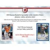 2020 Bowman Baseball Hobby Jumbo 8-Box Case (Presell)