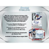 2020 Bowman Sterling Baseball Hobby 12-Box Case (Presell)