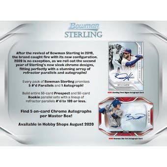 2020 Bowman Sterling Baseball Hobby Box (Presell)