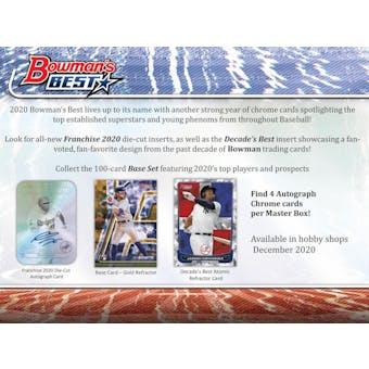2020 Bowman's Best Baseball Hobby Box (Presell)