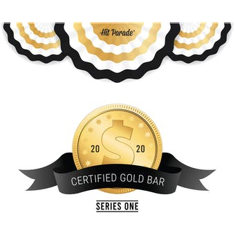 2020 Hit Parade Certified Gold Bar Edition - Series 1 - Hobby Box - All Gold Bars!