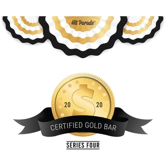 2021 Hit Parade Certified Gold Bar Edition - Series 1 - Hobby Box - All Gold Bars!