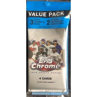 2020 Topps Chrome Update Baseball Value Pack