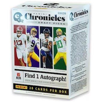 2020 Panini Chronicles Draft Picks Football 4-Pack Blaster Box