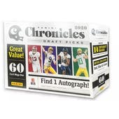 2020 Panini Chronicles Draft Picks Football Mega Box