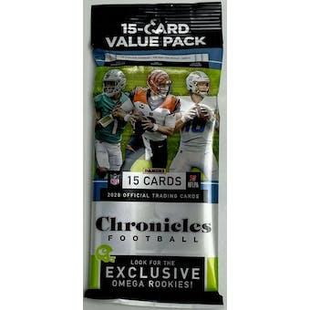 2020 Panini Chronicles Football Jumbo Value Pack (Lot of 12)