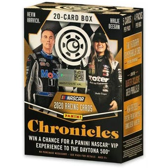 2020 Panini Chronicles Racing 4-Pack Blaster Box