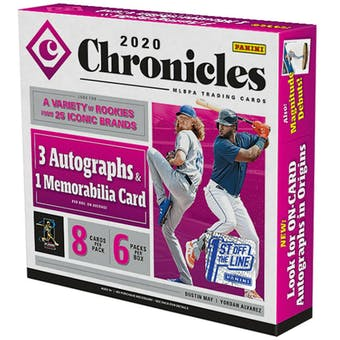 2020 Panini Chronicles 1st Off The Line Baseball Hobby Box