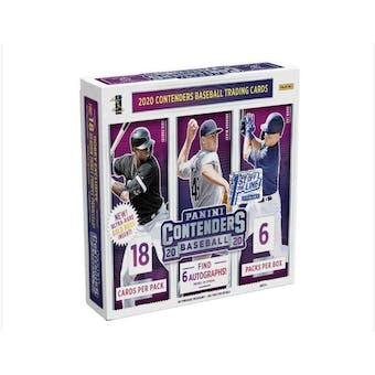 2020 Panini Contenders 1st Off The Line FOTL Baseball Hobby Box