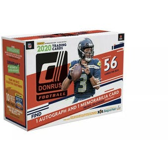2020 Panini Donruss Football 56-Card Mega Box