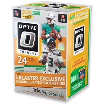 2020 Panini Donruss Optic Football 6-Pack Blaster Box (Pink Parallels)