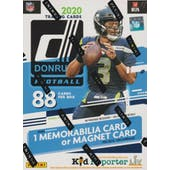 2020 Panini Donruss Football 11-Pack Blaster Box (Blue)