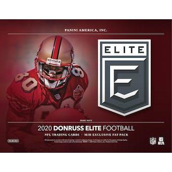 2020 Panini Donruss Elite Football Jumbo/Fat Pack Box