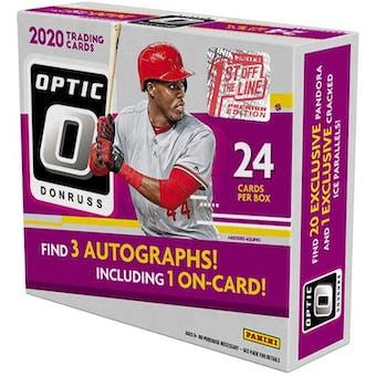2020 Panini Donruss Optic 1st Off The Line Baseball Hobby Box