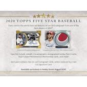 2020 Topps Five Star Baseball Hobby 8-Box Case (Presell)