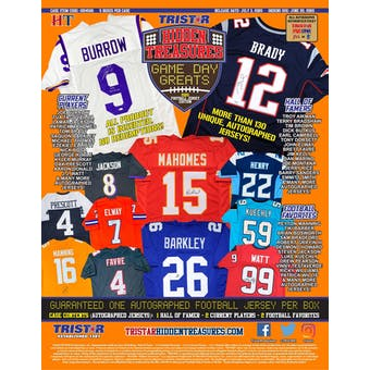 2020 TriStar Hidden Treasures Game Day Greats Football Hobby Box (Presell)