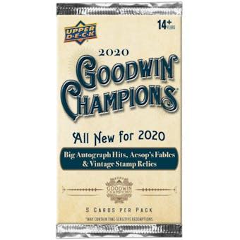2020 Upper Deck Goodwin Champions Hobby Pack