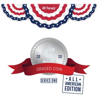 2020 Hit Parade Graded Coins All American Edition - Series 1 - Hobby Box - USA CURRENCY!
