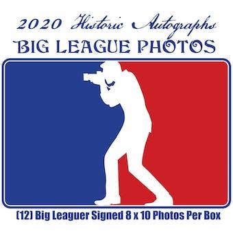 2020 Historic Autographs Big League Photos Baseball Hobby Box (Presell)
