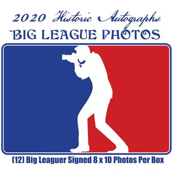2020 Historic Autographs Big League Photos Baseball Hobby Box