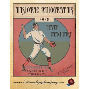 2020 Historic Autographs Half Century Baseball Hobby Box