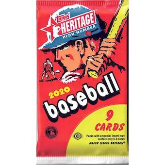 2020 Topps Heritage High Number Baseball Hobby Pack