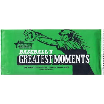 2020 Topps Heritage Minor League Baseball Greatest Moments Topper Pack