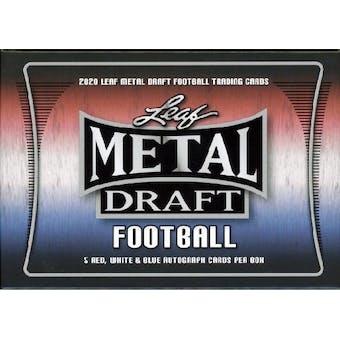 2020 Leaf Metal Draft Red, White, & Blue Football Hobby Box