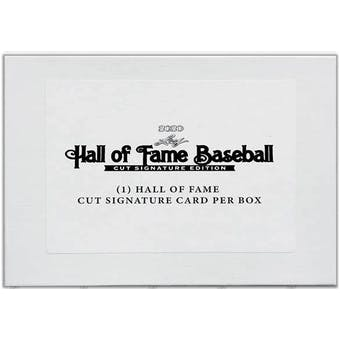 2020 Leaf Hall of Fame Baseball Cut Signature Edition Hobby Box