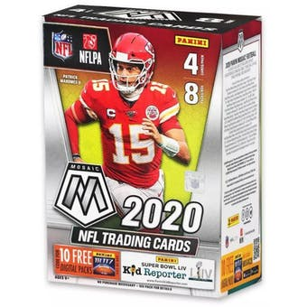 2020 Panini Mosaic Football 8-Pack Blaster Box