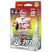 2020 Panini Mosaic Football Hanger Box (Reactive Gold Parallels)