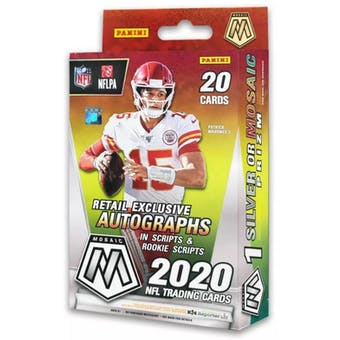 2020 Panini Mosaic Football Hanger Box (Reactive Gold Parallels)